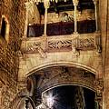 Gothic Bridge At Night In Barcelona 2 by Weston Westmoreland