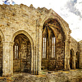 Gothic Temple Ruins - San Domingos - Vintage Version by Weston Westmoreland