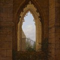 Gothic Windows In The Ruins Of The Monastery At Oybin by Carl Gustav Carus