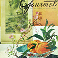 Gourmet Cover Featuring A Bowl Of Peaches by Henry Stahlhut