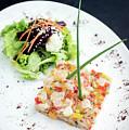 Gourmet Raw Tuna Tartare Ceviche With Mango Lime And Chilli by Jacek Malipan