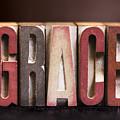 Grace - Antique Letterpress Letters by Donald Erickson