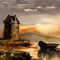 0756 Grace O' Malleys Castle, Rockfleet, Mayo by Val Byrne