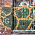 Graffiti Covered Wall Of An Old Abandoned Factory by Edward Fielding