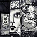 Graffiti In Black And White - I Am by Daliana Pacuraru
