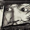 Graffiti Monochrome - Face by Daliana Pacuraru
