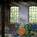 Graffiti On The Walls Of An Old Factory  by Eva-Maria Di Bella