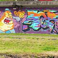 Graffiti Under A Bridge by Bob Phillips
