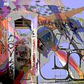 Graffitis Front Door by Martine Affre Eisenlohr
