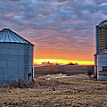 Grain Bin Sunset 2 by Bonfire Photography