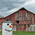 Grain Bin With Smile by David Arment