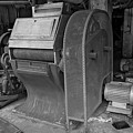 Grain Equipment Black And White by Dave Dilli