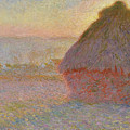 Grainstack, Sunset by Claude Monet