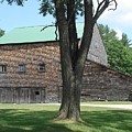 Grammie's Barn Through The Trees by Kerri Mortenson