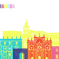 Granada Skyline Pop by Pablo Romero