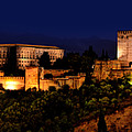 Granada - Spain - View Of The The Alhambra At Night by Carlos Alkmin