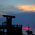 Grand Bend Silhouettes by John Scatcherd