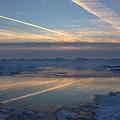Grand Bend Winter Reflections 2 by John Scatcherd