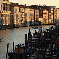 Grand Canal In Venice From The Rialto Bridge by Michael Henderson