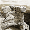 Grand Canyon Arizona Fine Art Photograph In Sepia 3538.01 by M K Miller