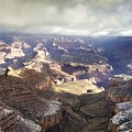Grand Canyon In Clouds And Snow by NaturesPix