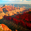 Grand Canyon National Park Sunset On North Rim by Glenn W Smith
