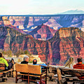 Grand Canyon North Rim Lodge View by Christopher Arndt