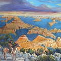 Grand Canyon Visitors At Sunrise by Perrys Fine Art