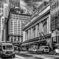 Grand Central At 42nd St - Mono by Nick Zelinsky