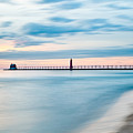 Grand Haven Pier - Smooth Waters by Larry Carr