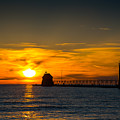 Grand Haven Sunset by Michael Tucker