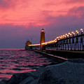 Grand Haven Sunset by Susan Rissi Tregoning