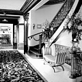 Grand Island Mansion Mosher Ranch 7 B And W by Joyce Dickens