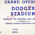 Grand Opening Dodger Stadium Ticket Stub 1962 by Bill Cannon