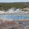 Grand Prismatic Spring, Midway Geyser by Richard Roscoe