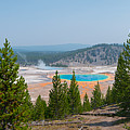 Grand Prismatic Spring Panorama by Michael Ver Sprill