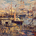 Grand Quai at Havre by Claude Monet