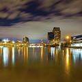 Grand Rapids At Night by J Thomas