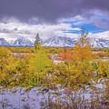 Grand Teton Fall Snowfall by Scott McGuire