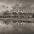 Grand Teton Monochromatic Panoramic by Scott McGuire