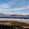 Grand Teton Mountain Range by Bret Barton