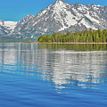 Grand Teton Mountain Reflection On Jackson Lake by Dan Sproul