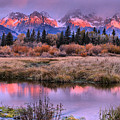 Grand Teton Pink Stripe Sunrise by Adam Jewell