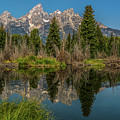 Grand Teton Range In Late Summer by Yeates Photography