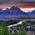 Grand Teton Sunset by Dennis Hammer