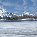 Grand Tetons And Snake River From Oxbow Bend 16-9 by Belinda Greb