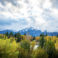 Grand Tetons In The Fall by Aileen Savage
