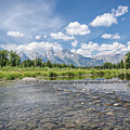 Grand Tetons On A Sunny Day by Margaret Pitcher