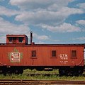 Grand Trunk Railroad Wood Caboose by Twarog Photography