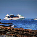 Grandeur Of The Seas At Anchor In Bar Harbor by Bill Swartwout Fine Art Photography